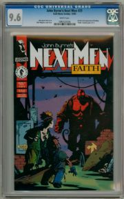 John Byrne's Next Men  #21 CGC 9.6 1st App Hell Boy Dark Horse comic book